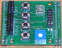 LCD/switch interface